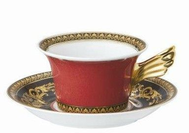 Versace Medusa Red Tea Cup & Saucer