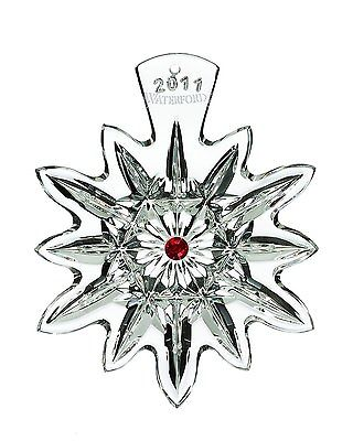 Waterford Crystal Snowflake Wish Dated Christmas Ornament 2011