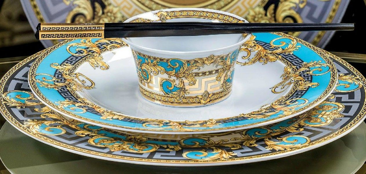 Rosenthal meets Versace Prestige Gala Blue Place Setting